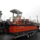 11m 9ton soild tire type working boat trailer for sale