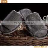 Wholesale dark gray microfiber slippers new design eva slippers