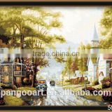 DIY oil painting by numbers acrylic paint home decor for adults 40*50cm YJ-787                                                                         Quality Choice