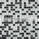 FICO NEW ARRIVAL black ice crackle glass mosaic tile GIC1502