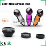 newest clip lens 0.65 wide angle 195 degree fisheye 10x macro 3in1 camera lens kit for iphone samsung htc lg blackberry xiaomi