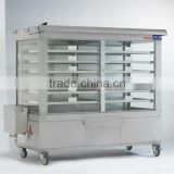 Quickly Bun/ Cake Stainless Steel Gas/ Electric Glass Food Warmer Display Showcase