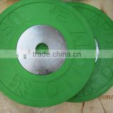 olympic colored rubber weight plate/ rubber coated barbell plate/ rubber barbell plate/ rubber bumper plates