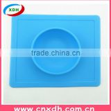Safety food grade silicone baby plate
