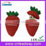 strawberry usb flash drive stick wholesale fruit usb memory sticks with branded chips 128MB to 64GB