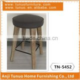 modern design wooden bar stool, no folded bar stool, wood bar stool with metal circle