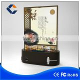 Built-in 2 mobile phone stands with led advertisement board power bank cafes tea restaurant shop power bank