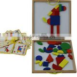 2013 Hot sale high quality educational wooden magnet board puzzle game toys for children