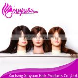 Factory price 100% human hair african american mannequin head for hair training