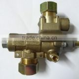 Brass safety automatic emergency shut-off gas control valve with pilot fire port for kitchen equipment