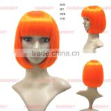 Factory prices orange/green/yellow cosplay bobo wig party wholesale wigs