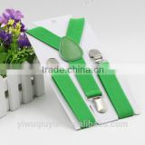 Green new High Quality Boys and Girl Clip-on Elastic Braces Kids Baby Suspenders Children Accessories A10532