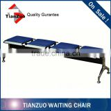 Chrome Metal Public Waiting Beam Chair/Bench Seating with Cushion
