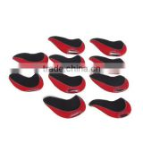 Set of 10 Red Neoprene Golf Club Head Cover Wedge Iron Protective Headcovers