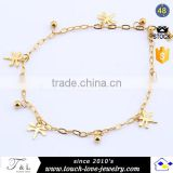 jewelry manufacturer factory price gold plated jewellery top cheap anklet bracelet anklet feet