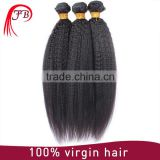 Machine human hair weft most popular kinky straight braiding hair