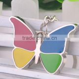 wholesale fashion butterfly keychain metal