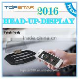 2016 Newest Universal Head Up Display Car Phone GPS HUD Mobile Navigation Bracket Image Reflector Holder