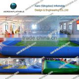 Inflatable pool for bumper boat