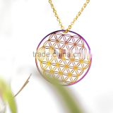 Fashion jewelry 2016 chakra flower of life pendant necklace