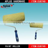 Polyester and acrylic blended fabrics wall decorative grass green color paint roller brush
