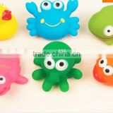 natural rubber pvc bath toys,Soft stress toy sea animal bath toys,sea squirt animal plastic bath toys