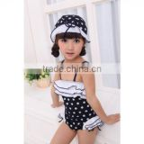 2015 Baby Girls Summer Child Swimwear 2pcs Polka Dots Halter Seaside Swimsuit/Baby Bathing Suit/Swimming Little Girls Swimsuits
