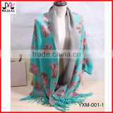 Latest design women's luxury velvet mink pashmina shawl