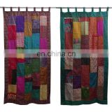 Wholesale Vintage Kantha Curtains Silk Sari Patchwork Curtains
