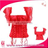 corsets and bustiers slimming red Lace sexy Corset Bustier top Slim Body Bow Corset for women