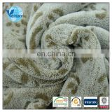 100% Polyester Printted Back Cutting Pattern Coral Fleece Fabric for Blanket,Bathrobe,etc.
