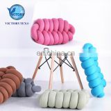 100% Polyester Outdoor Yoga Lumbar Sofa Chair Massage Car Seat Knot Cushion Pillow Cover