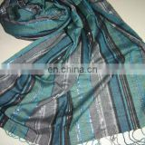 Viscose Pashmina Shawl In Stripe Design