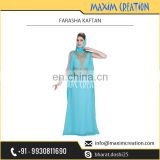Long Sky Blue Farasha Kaftan for Women