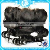 Ear to ear frontal indian remy hair silk closure