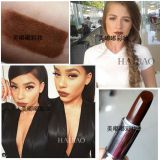 Matte moisturizing moisturizing deep brown camel chocolate dark brown chestnut long lasting lipstick
