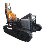 Crawler Type Open-air Drilling Rig / Hydraulic Drilling Rig Supports Various Models