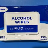 75% alcohol wipes disinfecting hands