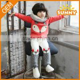 OEM Design Korean Squirrel 2pcs Cotton Baby Girls Clothes Baby Boys Sports Set