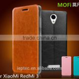 MOFi Flip PU Leather Cell Phone Cover for XiaoMi RedMi 3, TPU Stand Back Cases, Free samples