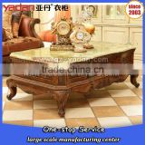 Heavy duty marble coffee table, sofa center table,high end wooden tea table with drawers                                                                         Quality Choice