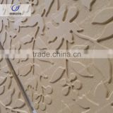 Customized carved plants pattern relief stone wall art