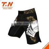 100% polyester men's mma sublimation printing custom/make your own sublimation crossfit kick boxing shorts