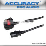 UK standard Pro Electric AC Power Cable Plug To IEC Power Cord EC005-5M/1. 5                                                                         Quality Choice