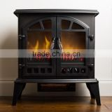 "22"" Classic Flame Matt Black Antique Electric Fireplace Heater"