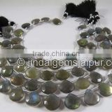 Wholesale Labradorite Far Faceted Heart Beads