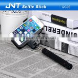 Wholesale wireless bluetooth selfie stick with micro USB memory charge interface for mobile phones QC09