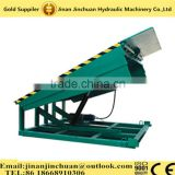 10 tons loading capacity stationary dock ramp/hydraulic dock leveler by manual and pump station