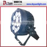 New Design mini 12PCS 12W RGBWA UV led waterproof par light led decoration light for wedding