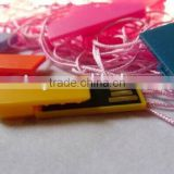 promotional colorful paper clip plastic usb drive,Free logo plastic pendrive 1gb to 64gb, wholesale price usb stick